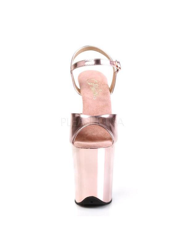Босоножки-тройки FLAM809/ROGLDPU/M Розовое золото
