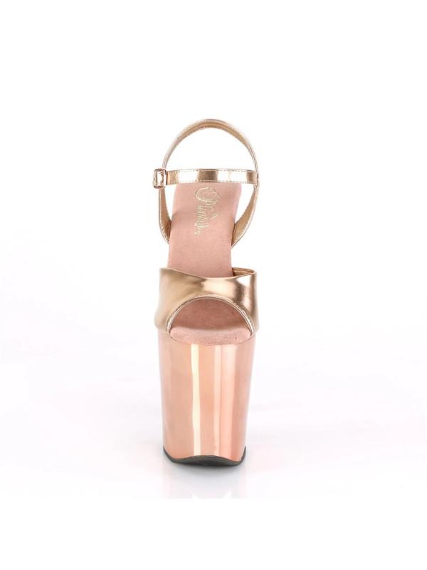 Босоножки-тройки XTM809TTG/RGMPU/RGCH Розовое золото