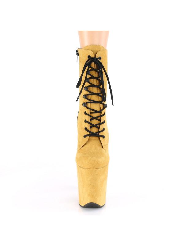 Ботинки-тройки FLAM1020FS/MUSFS/M Горчичные с закрытым носком