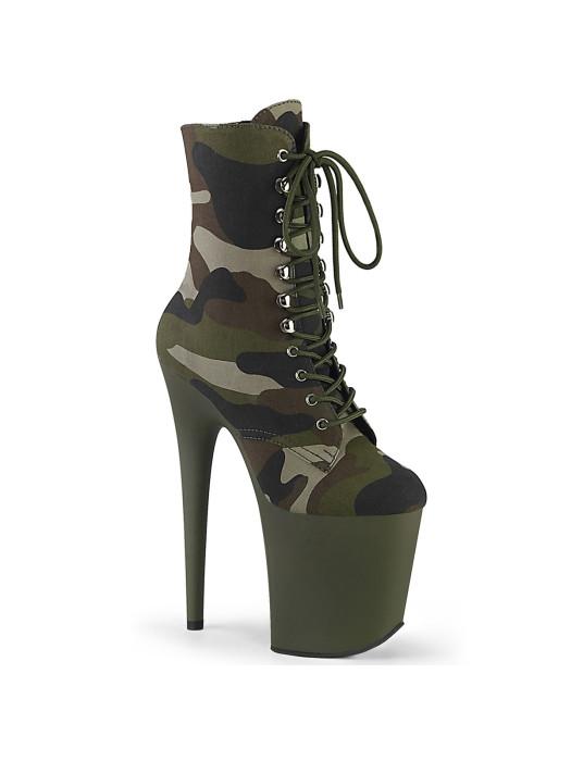 Тканевые ботинки-тройки FLAM1020CAMO/GRN/DOL Зелёные