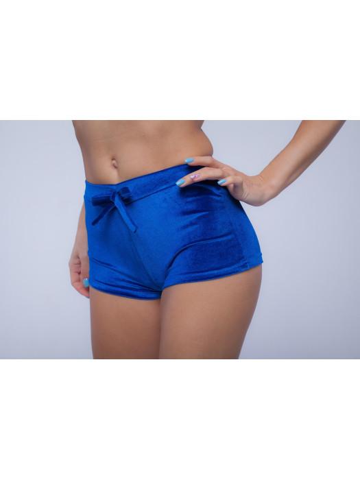 Бархатные шорты Синие