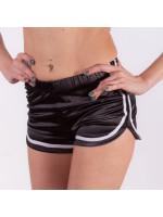 Высокие шорты на эластичной резинке Чёрные