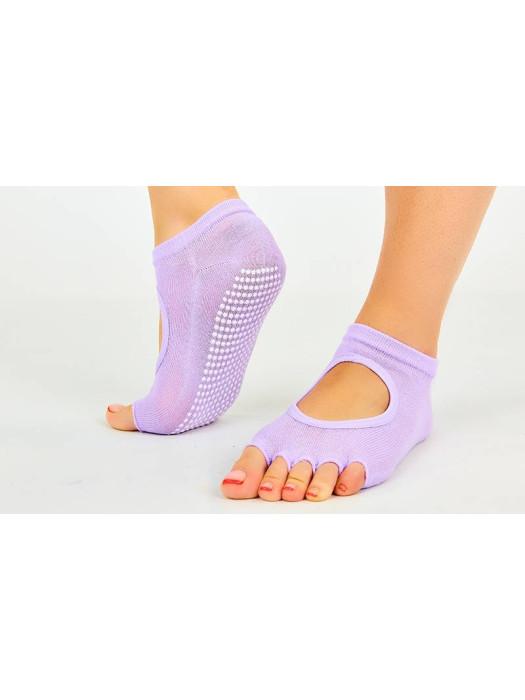 Носки для йоги и pole dance Розовые