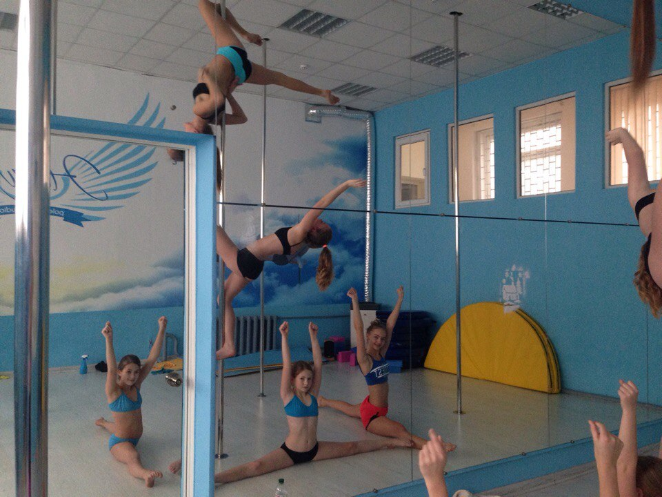 акробатика на пилоне для детей