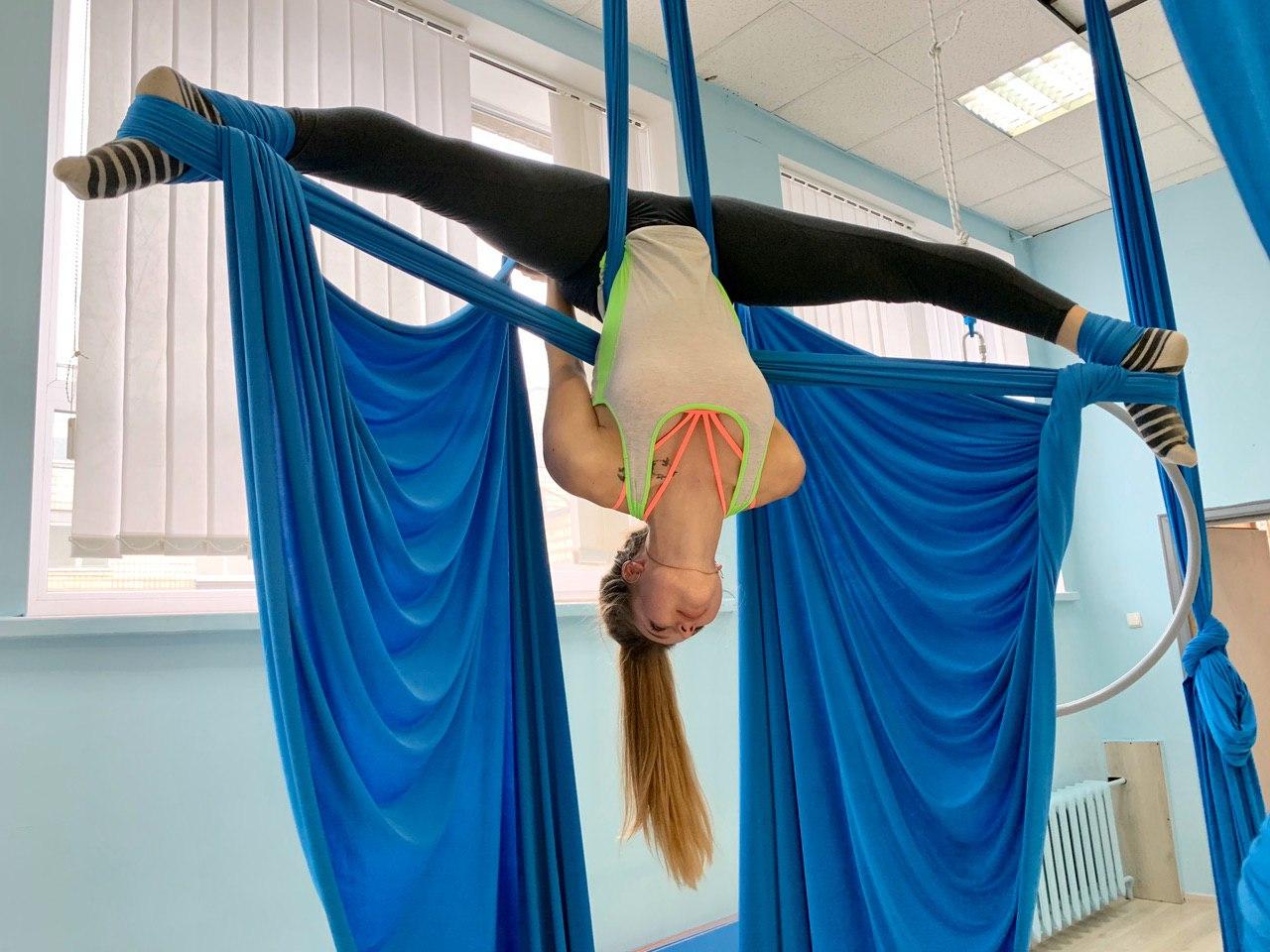 Занятие воздушной акробатикой на полотнах в Киеве